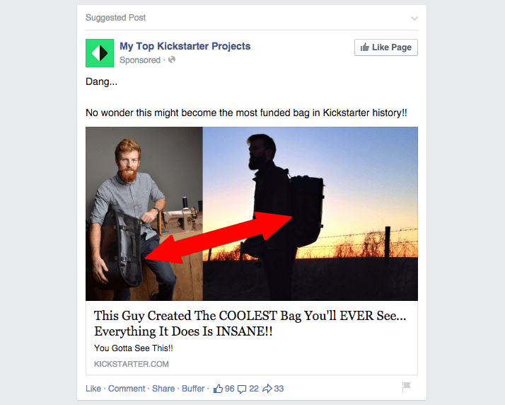 Buzzfeed Style Facebook Ad