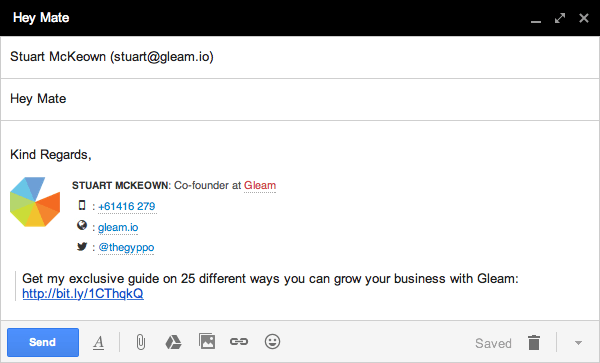 Growth Email