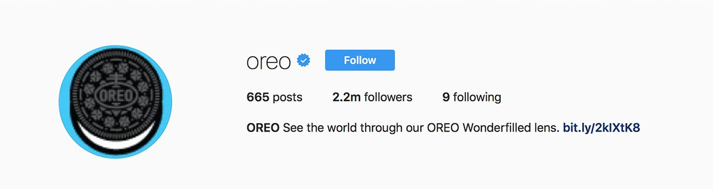 Oreo's Instagram Profile