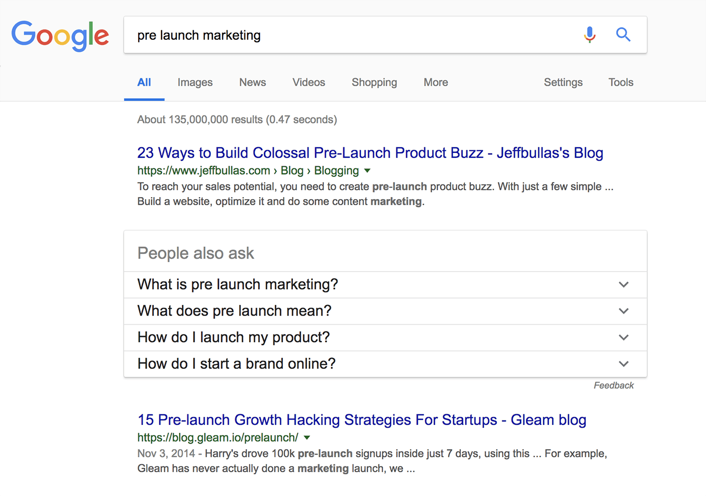 Keyword: Pre Launch Marketing