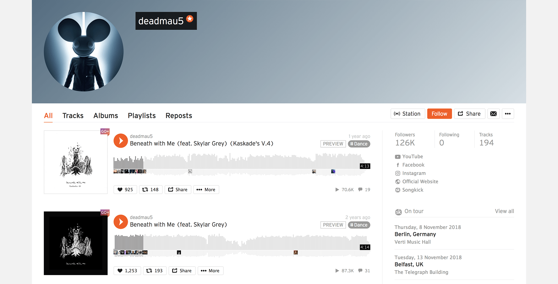 Deadmau5 on SoundCloud
