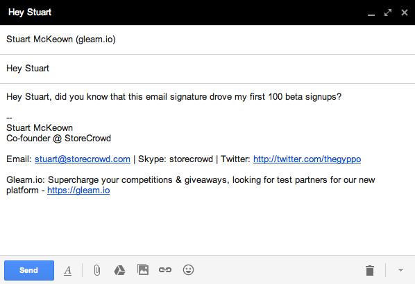 Email Signature Growth Hack
