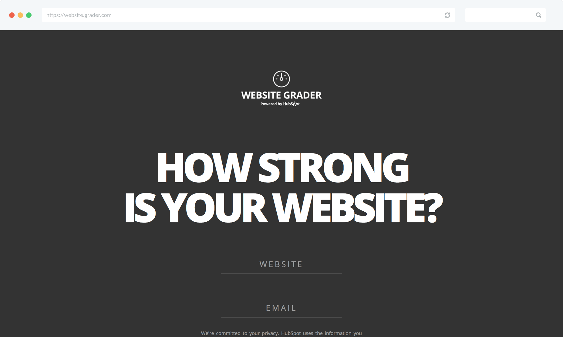 HubSpot Website Grader Tool