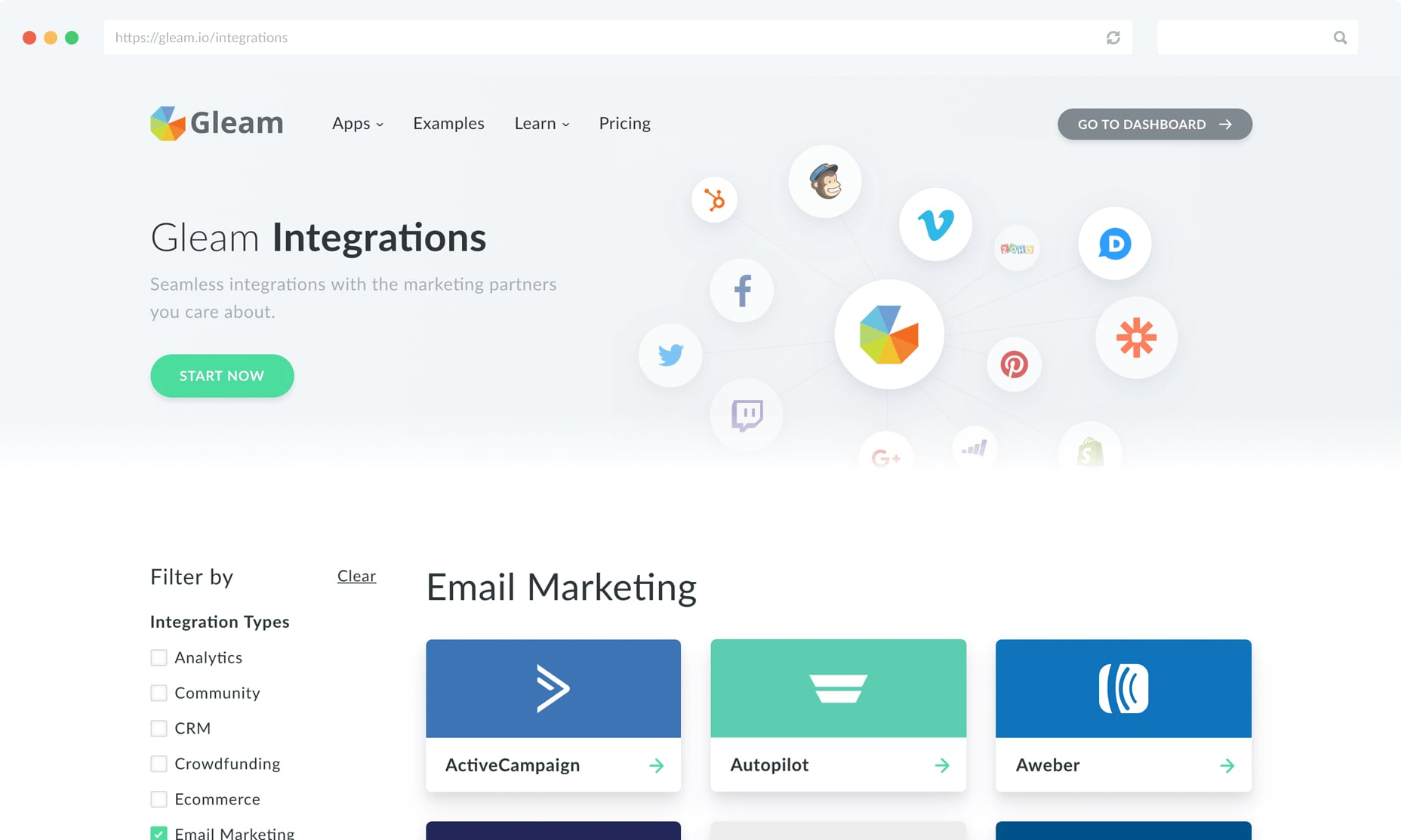 Gleam Email Integrations