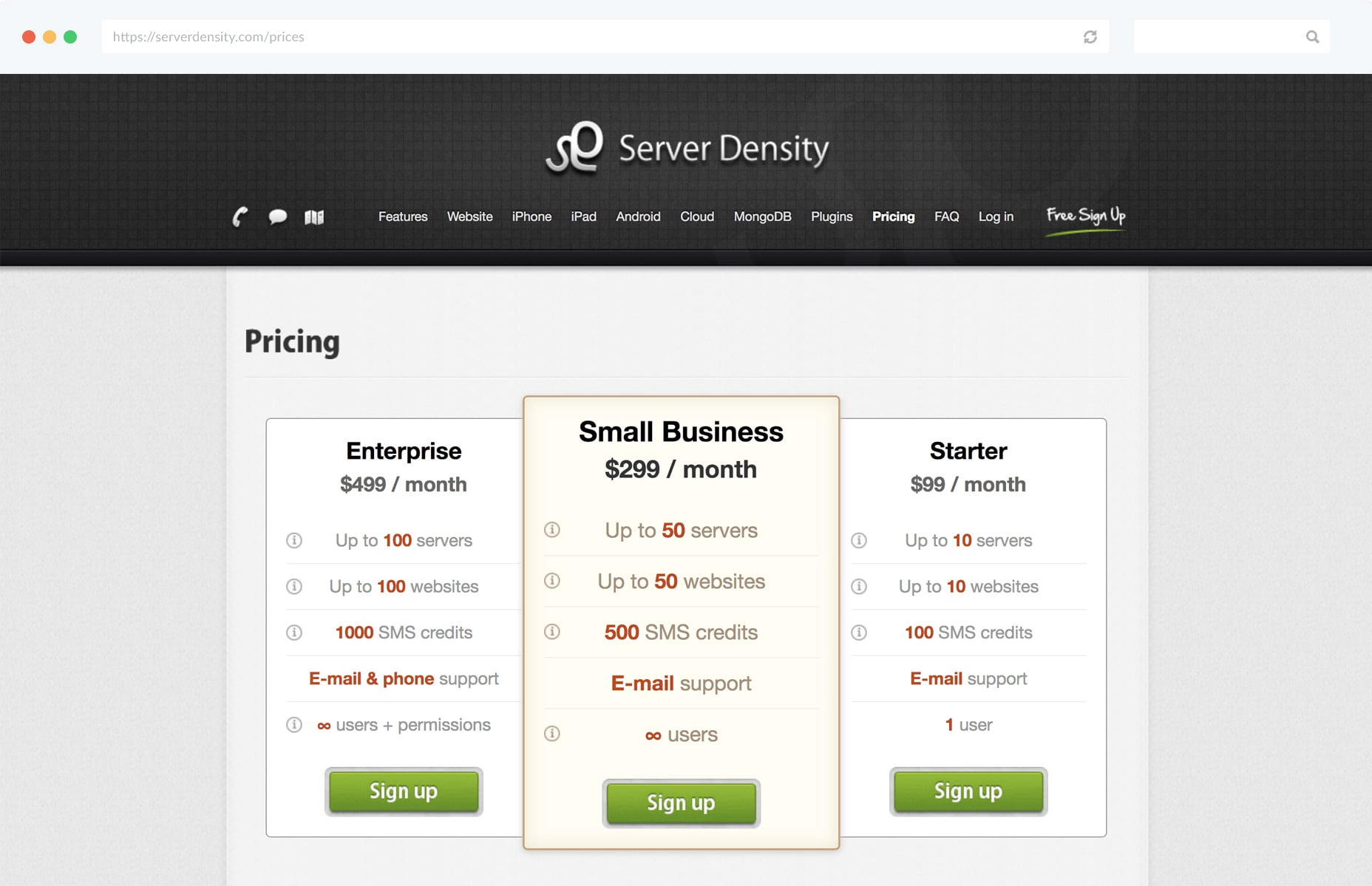 server-density-prices