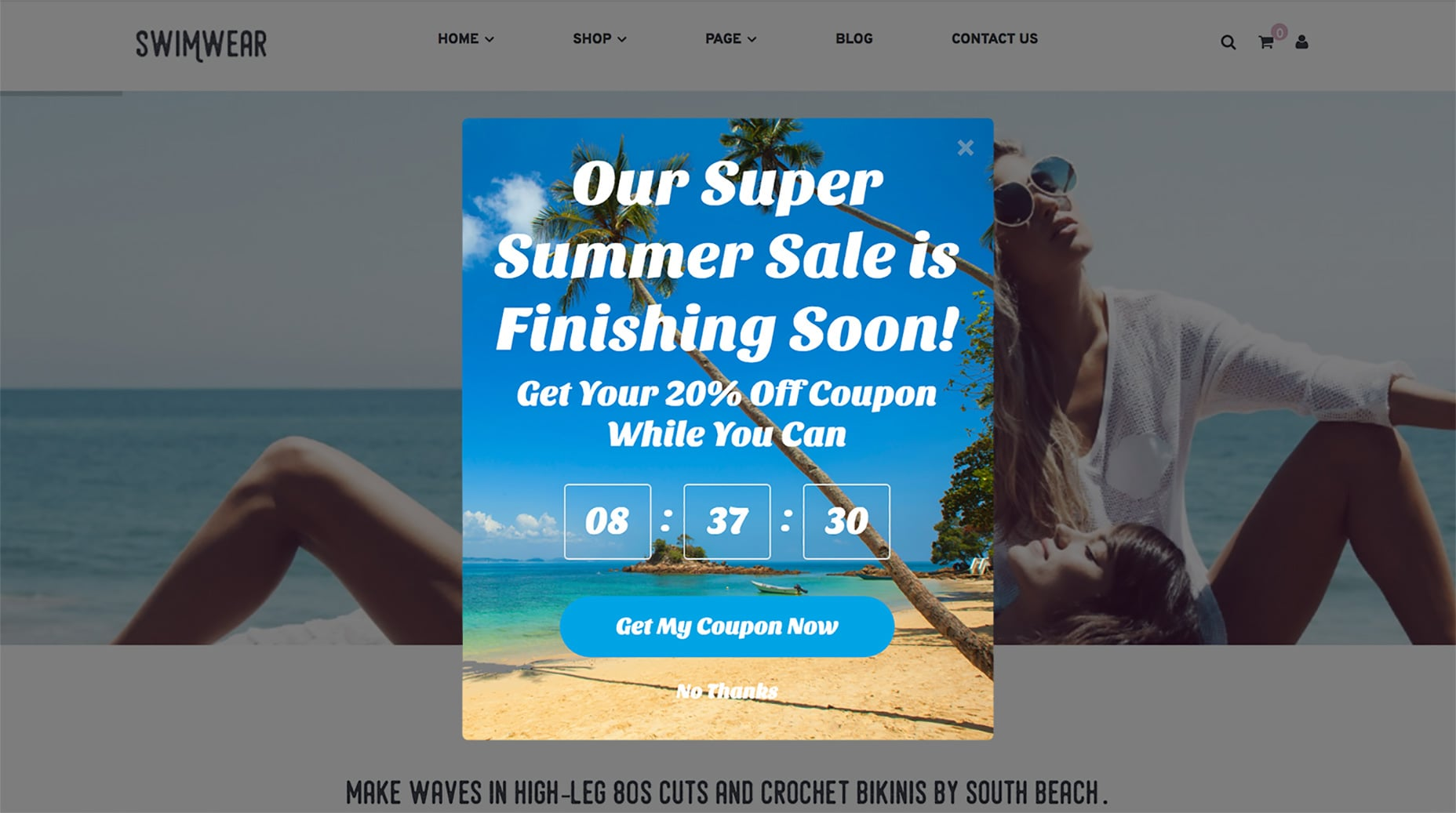 E-Commerce Countdown Template