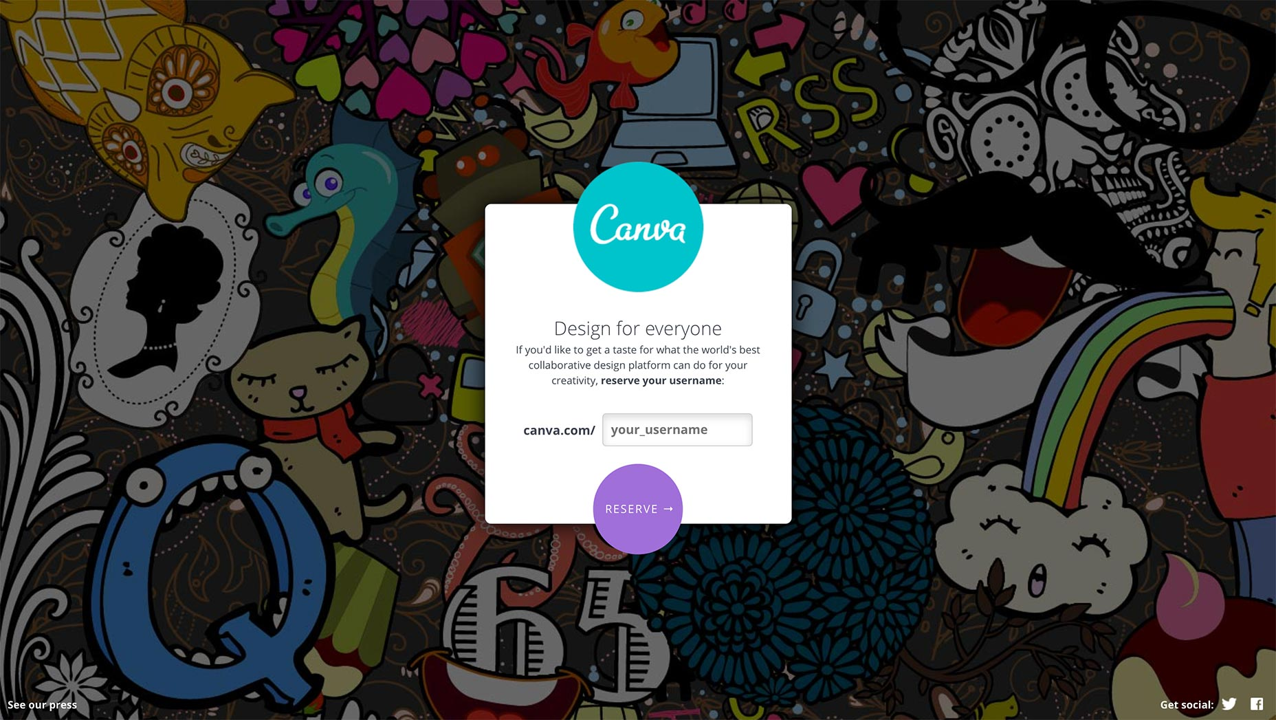Canva Landing Page