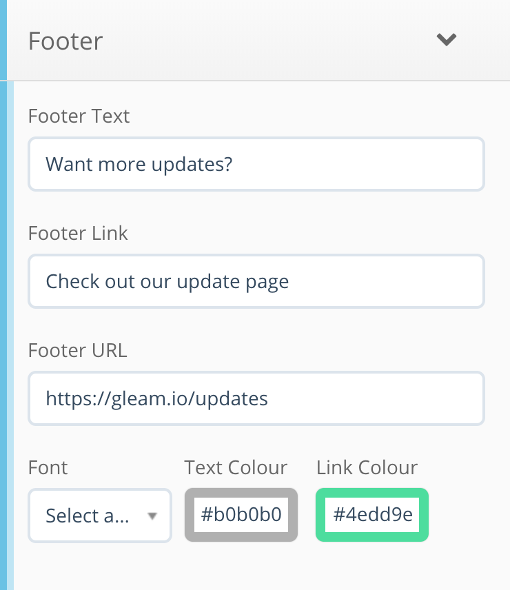 Footer text in Capture