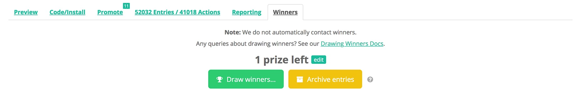 gleam-drawing-winners