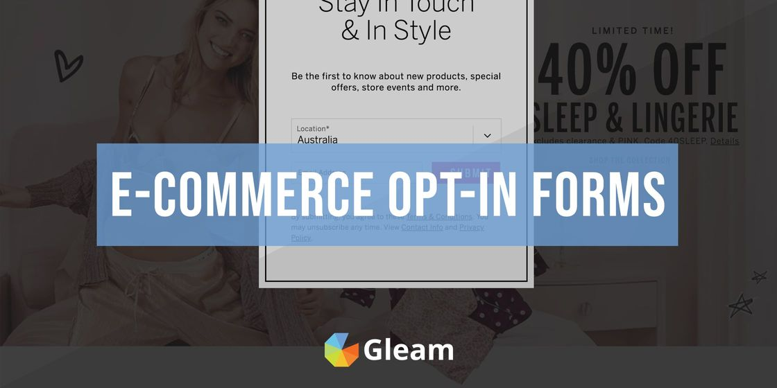 A Practical Guide to E-Commerce Opt-in Forms